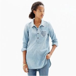 Madewell Chambray Little Love popover shirt